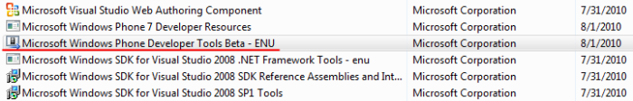 Uninstall Beta Tools